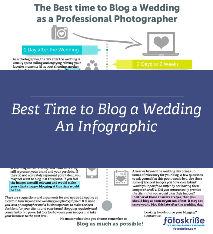 When Is The Best Time To Blog A Wedding? An Infographic