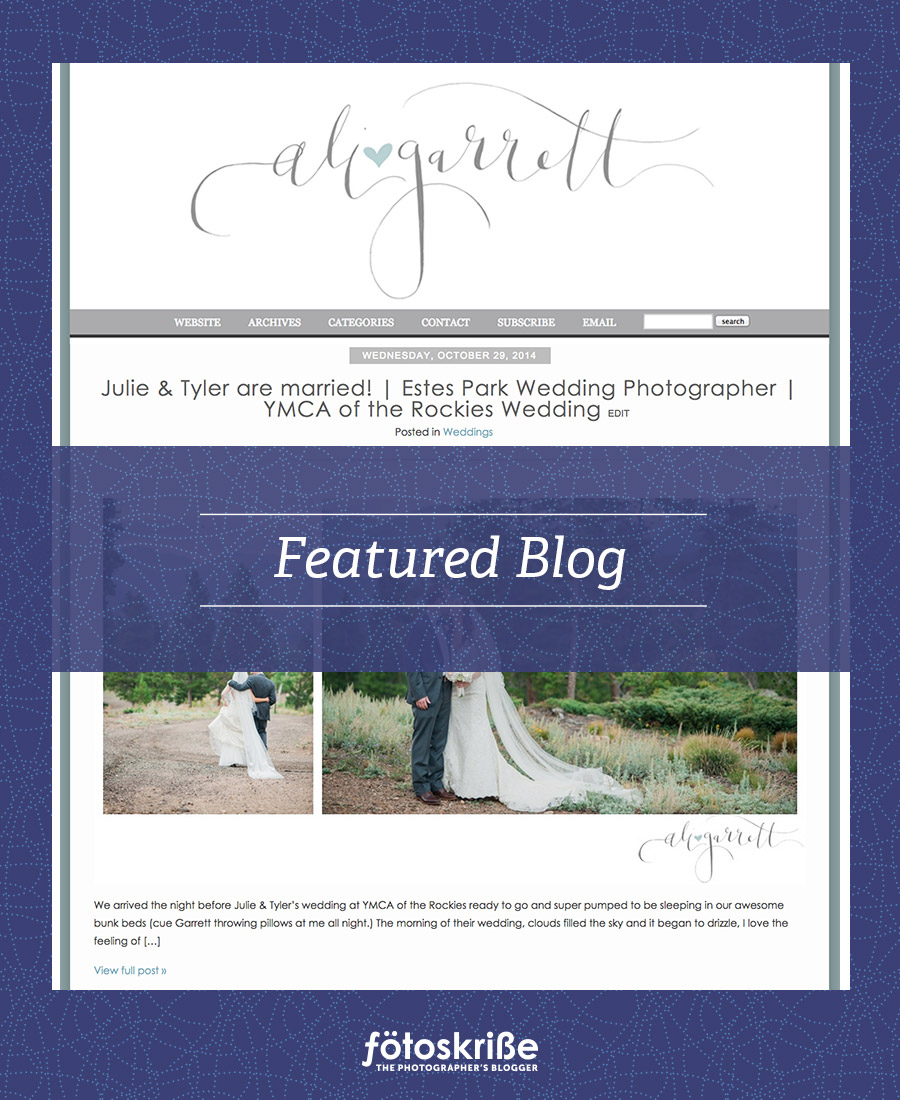 Featured Blog – Ali and Garrett Photography – YMCA of the Rockies Wedding