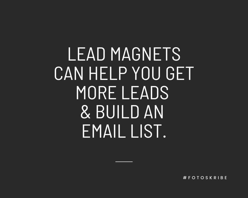 Infographic stating lead magnets can help you get more leads and build an email list
